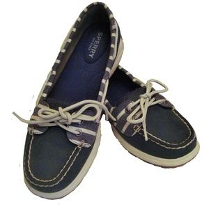 Sperry Top Sider Womens Shoes 8M Navy